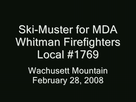 Ski-Muster for MDA: Whitman Firefighters