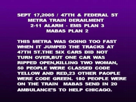 METRA TRAIN CRASH  CHICAGO,IL.  2005