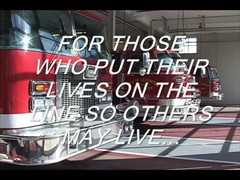Tribute to firefighters...