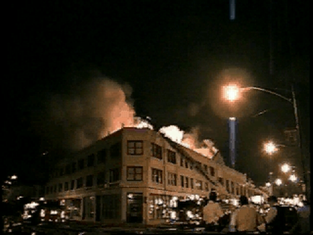 BOWLING ALLEY FIRE  CHICAGO  2002