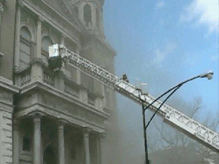 GOD HELPS FIREMEN SAVE CHURCH/CHICAGO,IL./  APRIL 9 2008