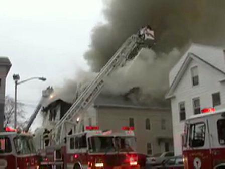 Worcester Battles Major Blaze