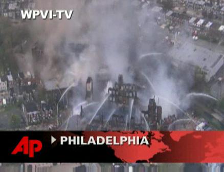Raging Fire Destroys Philadelphia Warehouse