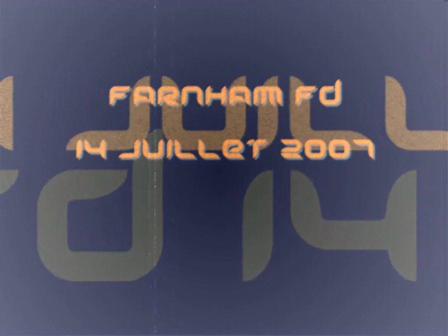 SSI Farnham, 14 juillet 2007