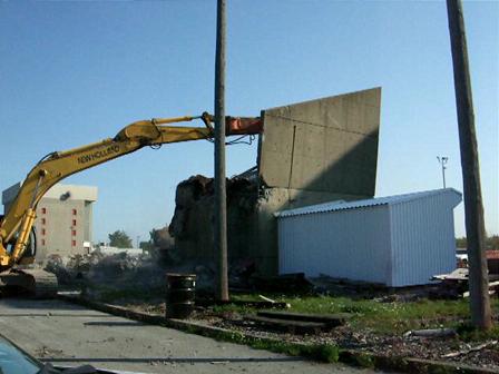 Smokehouse-Wall Comes Down