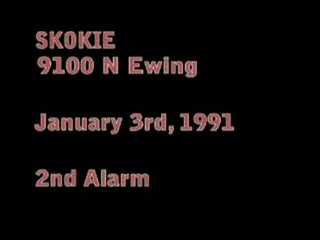 Skokie FF 's CLOSE CALL on roof