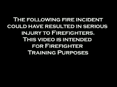 House Fire Close Call / FCII Helmet Camera