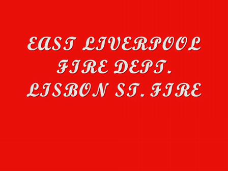 EAST LIVERPOOL,OHIO LISBON ST FIRE