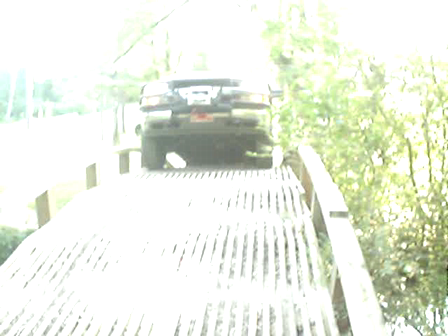 Driving a 11,000 LB Brush Truck Over A 12,000 LB Rated Homemade Bridge 1of 2