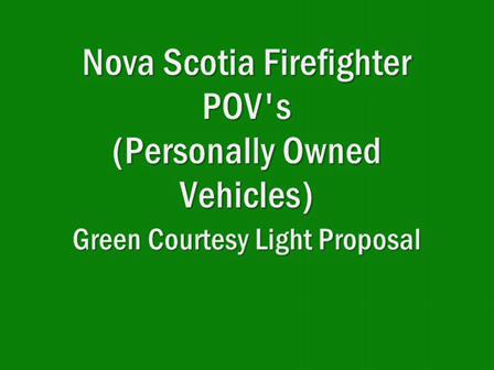 Green Lights on Volunteer Firefighter POV's