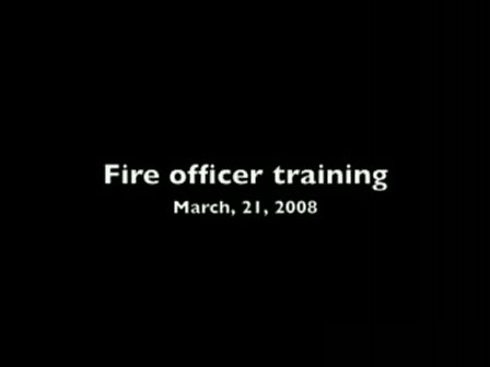 My fire officer class I and II   3-21-2008