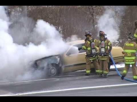 Lower Nazareth Car Fire 1-22-09