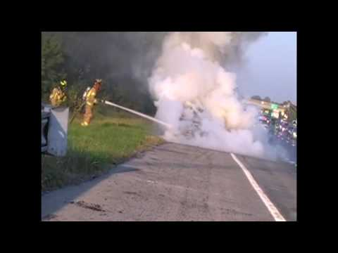Bethlehem Twp Car Fire Rt 22