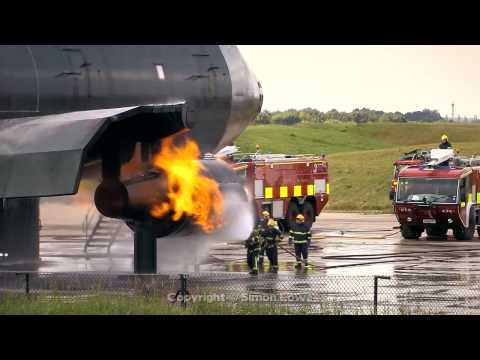 Manchester (UK) Airport Fire Training