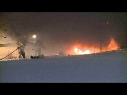 Stubborn car fire; Whitehall PA