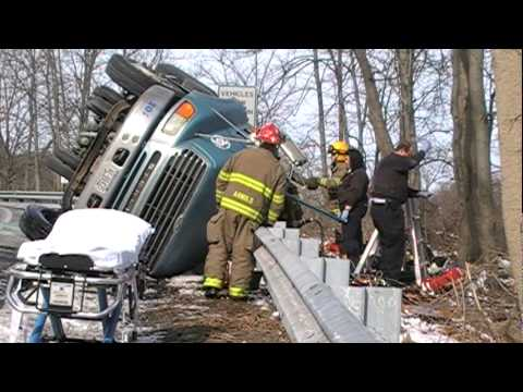 City of Easton Tractor Trailer Rollover w/ Rescue 2-9-10
