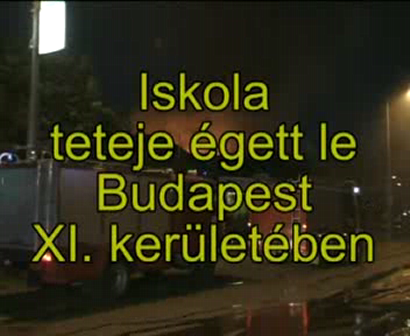 School roof burned in Budapest