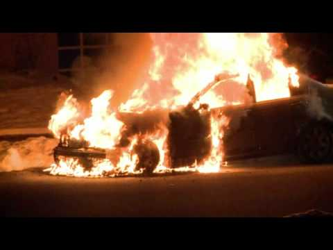 BMW goes up in flames in Whitehall, PA