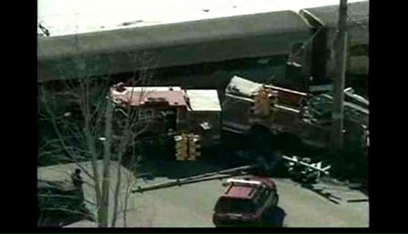 Train Slams into Detroit Ladder Truck