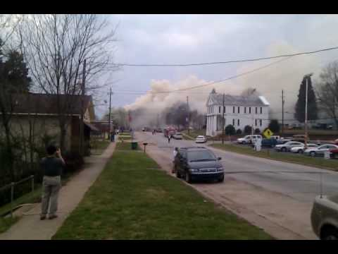 Pittsboro (NC) Courthouse Fire