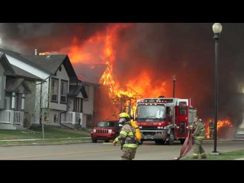 Alberta House Fire Images