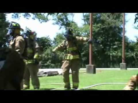 Firefighter Dancing to Thriller