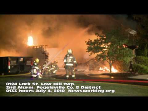 2nd Alarm house fire in Lehigh County, PA