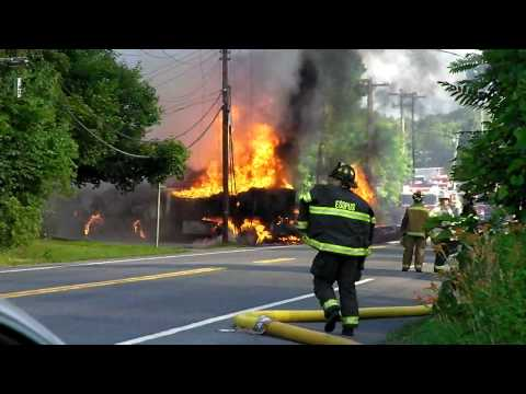 oil truck fire , Town of Esopus New york
