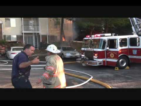 Fire Video from Two-Alarmer in Baltimore County, Maryland (July 3, 2010)