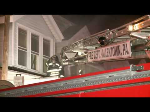 Rowhome Fire in Allentown, PA