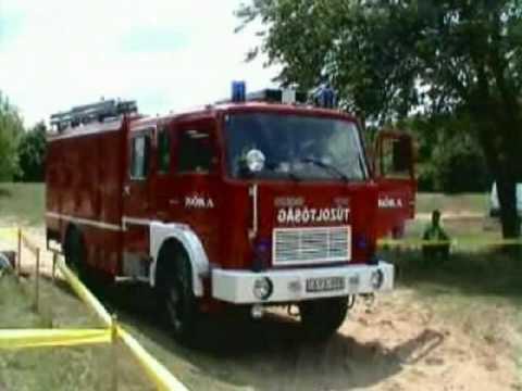 Kóka volunteer fire brigade in fire-fighting competition