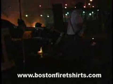 Boston Fire Department Battles a Auto Fire