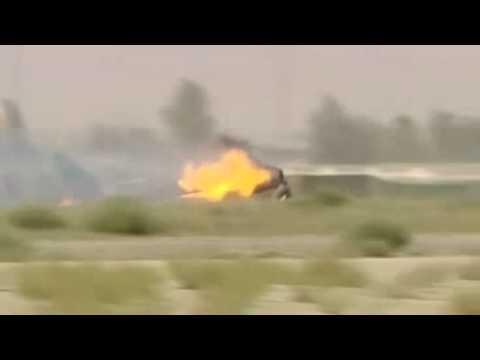 Harrier Crash while landing...