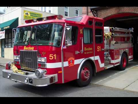 Boston fire trucks