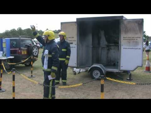 Fire safety demonstration at Thornbury Carnival 2010