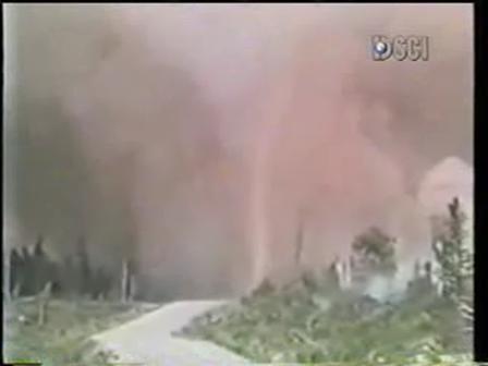"Firefighters Survive ""Fire Tornado"""