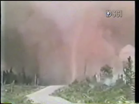 "Firefighters Survive ""Fire Tornado"""