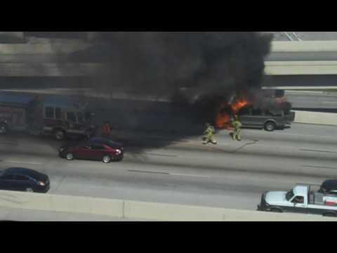 Houston Highway Auto Fire