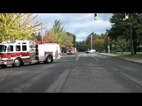 Brighton NY Responding for a House Fire 10/7/10
