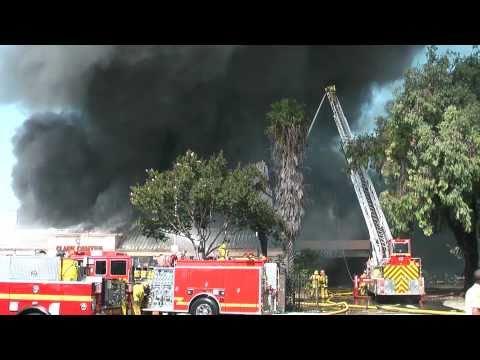 LA County Bowling Alley Fire