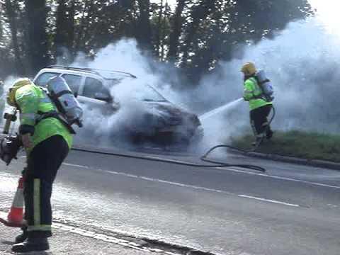 European Car Fire Attack