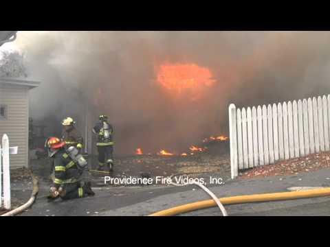 2 garages destroyed in Millville, Ma blaze