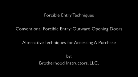 Outward Opening Doors - Alternative Techniques for Accessing A Purchase