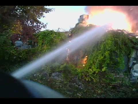 Reading PA, Box 28, Structure Fire, Engines responding and Helmet Cam footage
