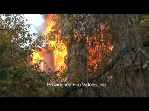 4 Alarm Mill Fire in Fall River, Mass.