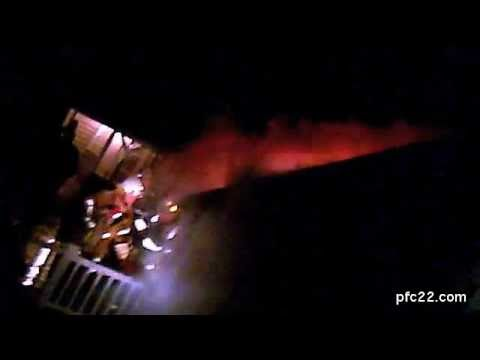 (Helmet Cam) Maryland Working Garage Fire