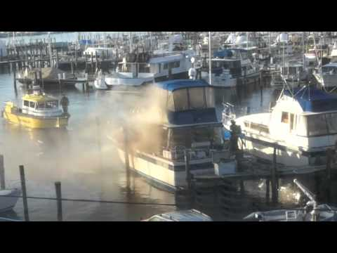 Eastport (MD) Boat Fire