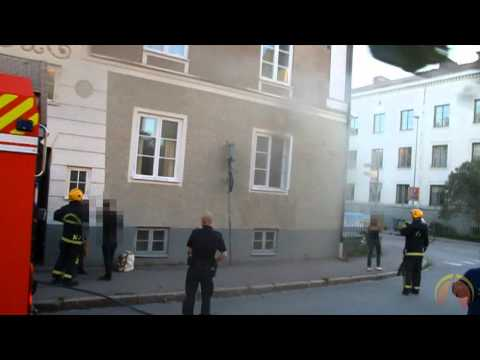 Apartment fire in Uppsala, Sweden