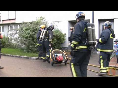 Suspected appartment fire in Uppsala, Sweden