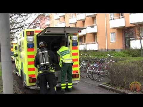 Suspected appartment fire in Uppsala, Sweden
